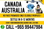 HUGE DEMAND IN CANADA AND AUSTRALIA FOR WORK IN PROFESSIONAL
